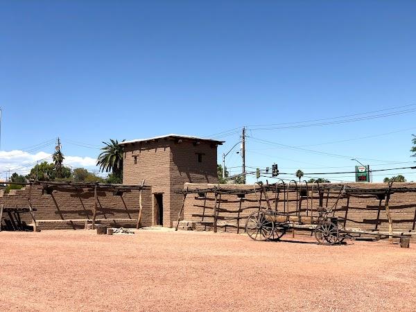 Popular tourist site Old Las Vegas Mormon Fort State Historic in Las Vegas