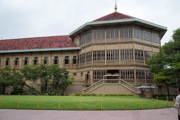 Popular tourist site Vimanmek Mansion in Bangkok