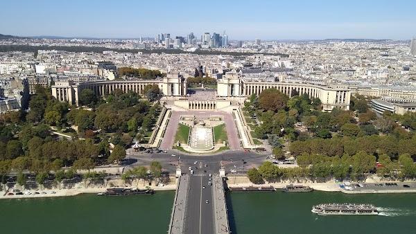 Popular tourist site Trocadéro Gardens in Paris