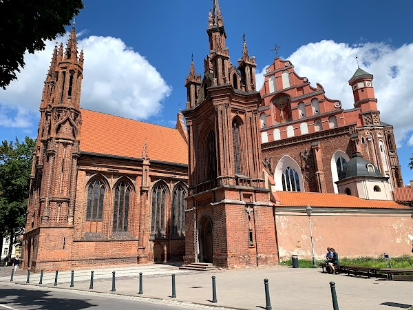 Popular tourist site St. Francis of Assisi (Bernardine) Roman in Vilnius