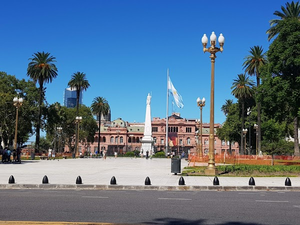 Popular tourist site Plaza de Mayo in Buenos Aires