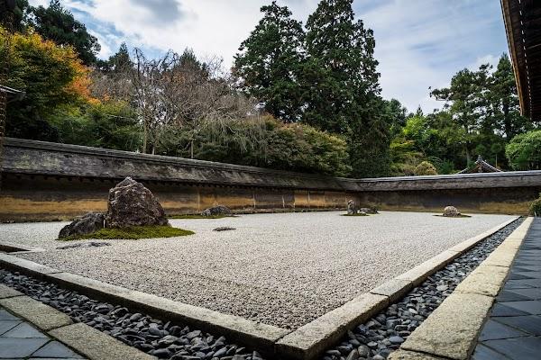 Popular tourist site Ryōan-ji in Kyoto