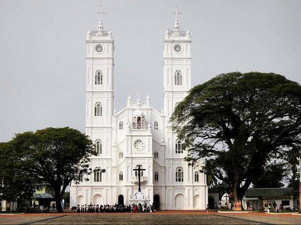 Popular tourist site Vallarpadam Basilica in Cochin