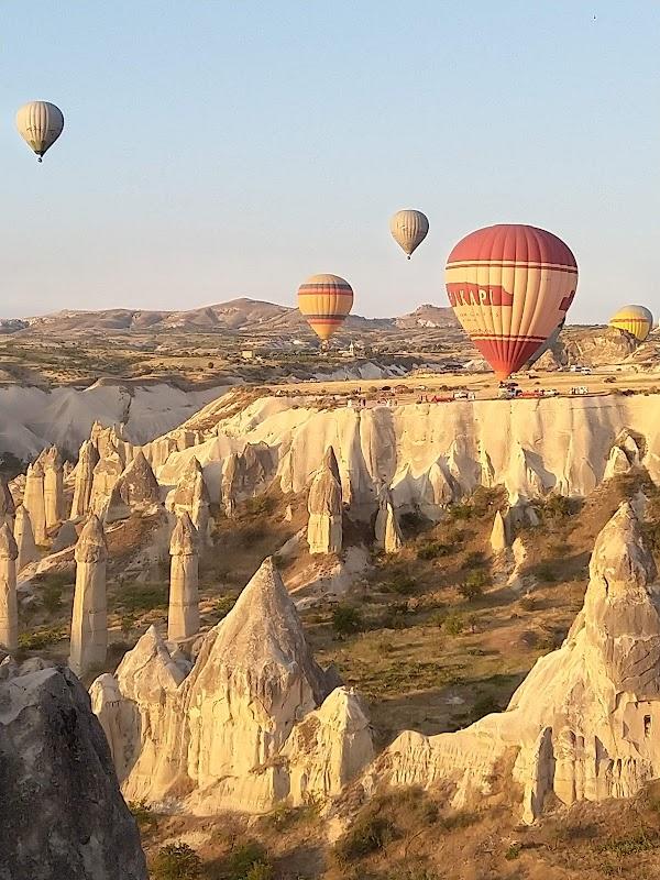 Popular tourist site Aşıklar vadisi in Cappadocia