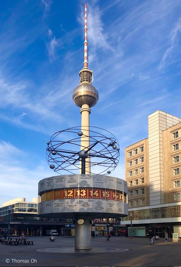 Popular tourist site Alexanderplatz in Berlin