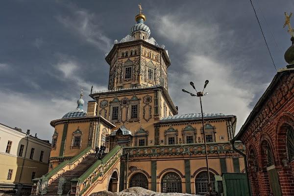 Popular tourist site Petropavlovskiy Sobor in Kazan