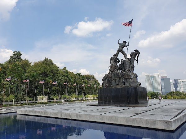Popular tourist site Tugu Negara in Kuala Lumpur