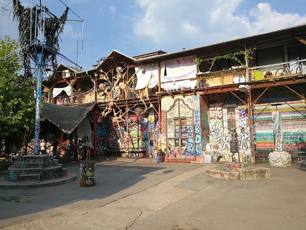 Popular tourist site Metelkova Art Center in Ljubljana