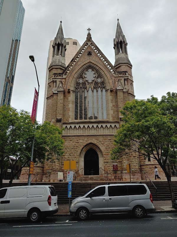 Popular tourist site Cathedral of St Stephen in Brisbane City