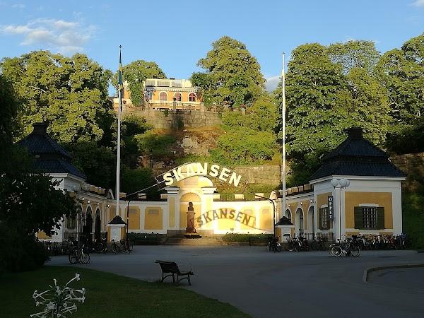 Popular tourist site Skansen in Stockholm