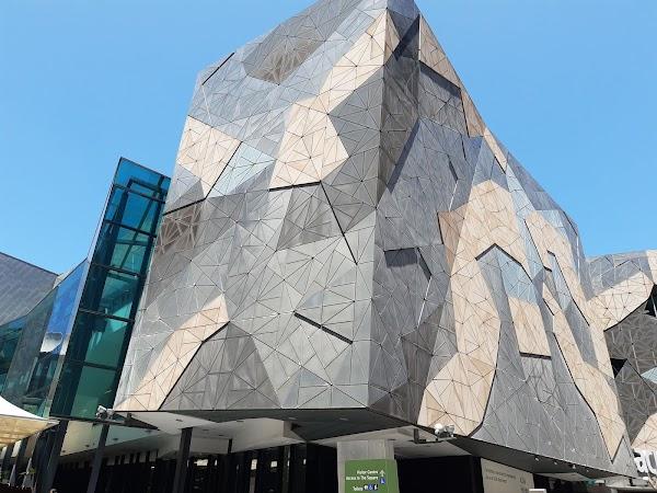 Popular tourist site Federation Square in Melbourne