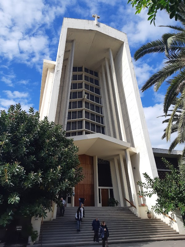 Popular tourist site Eglise Notre Dame De Lourdes in Casablanca
