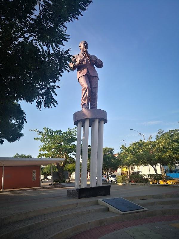 Popular tourist site Joe Arroyo Statue in Barranquilla