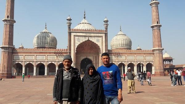 Popular tourist site Jama Masjid in New Delhi