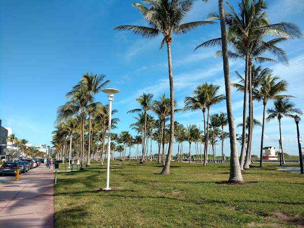 Popular tourist site Lummus Park in Miami