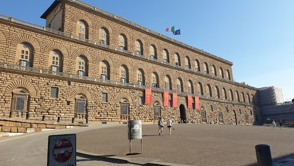 Popular tourist site Pitti Palace in Florence