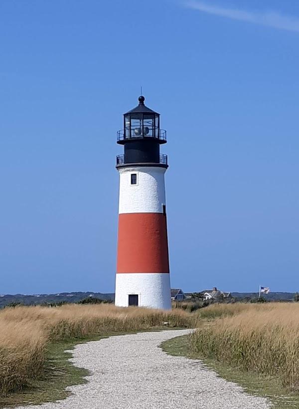 Popular tourist site Sankaty Head Light in Nantucket