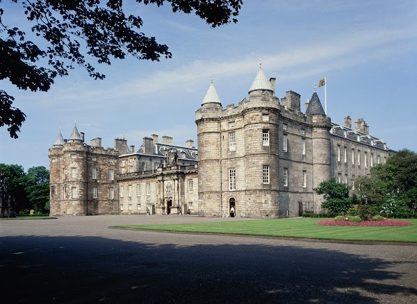 Popular tourist site Palace of Holyroodhouse in Edinburgh