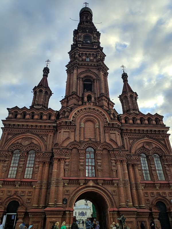Popular tourist site Epiphany Cathedral's Bell Tower in Kazan
