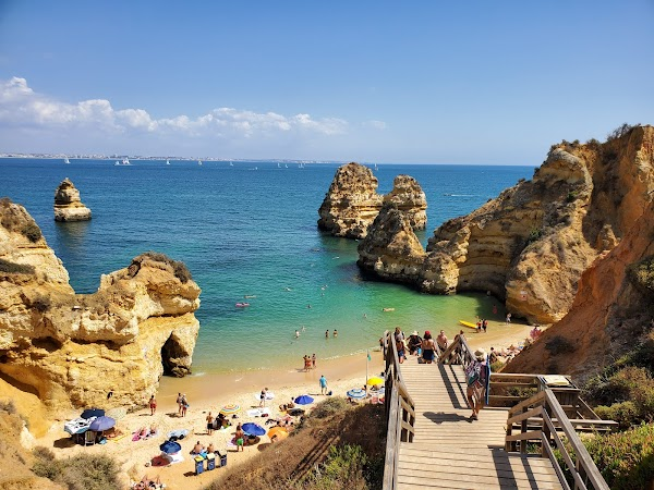 Popular tourist site Praia do Camilo in Algarve