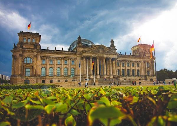 Popular tourist site Reichstag Building in Berlin