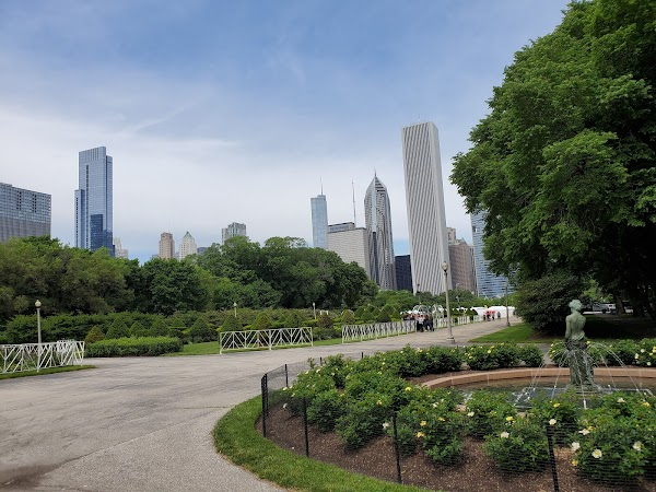 Popular tourist site Grant Park in Chicago