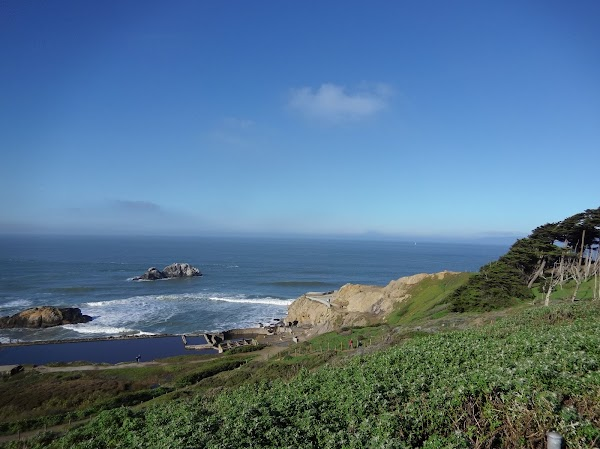 Popular tourist site Lands End Lookout in San Francisco