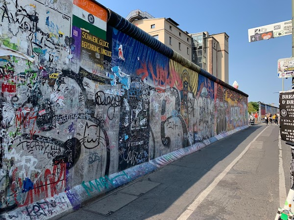 Popular tourist site East Side Gallery in Berlin