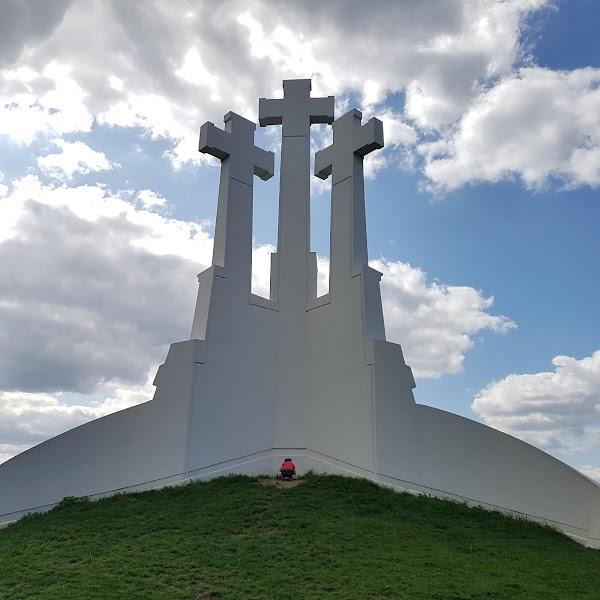 Popular tourist site Three Crosses in Vilnius