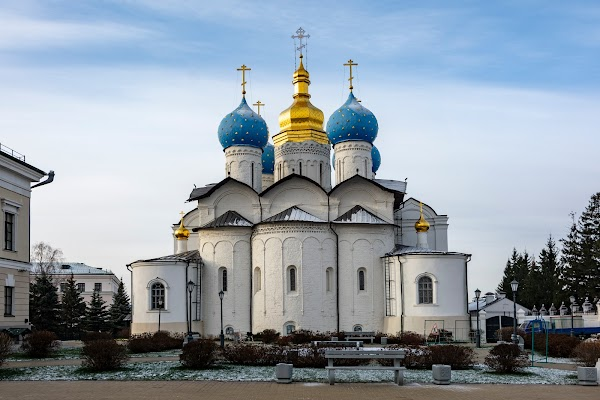 Popular tourist site Cathedral of the Annunciation in Kazan