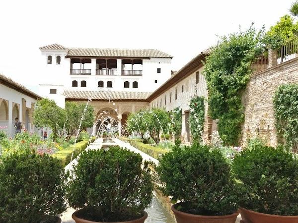 Popular tourist site Generalife in Granada