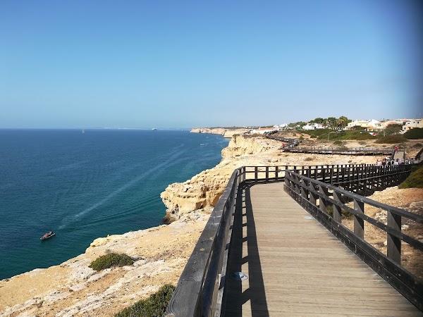 Popular tourist site Carvoeiro Boardwalk in Algarve