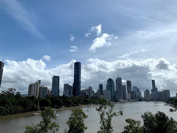 Popular tourist site Kangaroo Point Cliffs Park in Brisbane City