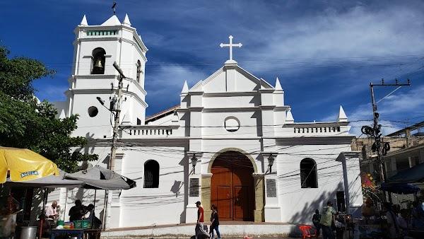 Popular tourist site Saint Francis Square in Santa Marta