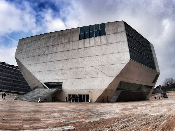 Popular tourist site Casa da Música in Porto