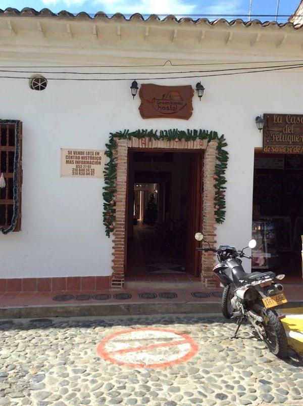 Popular tourist site Green Nomads Hostel in Santa Fe de Antioquia