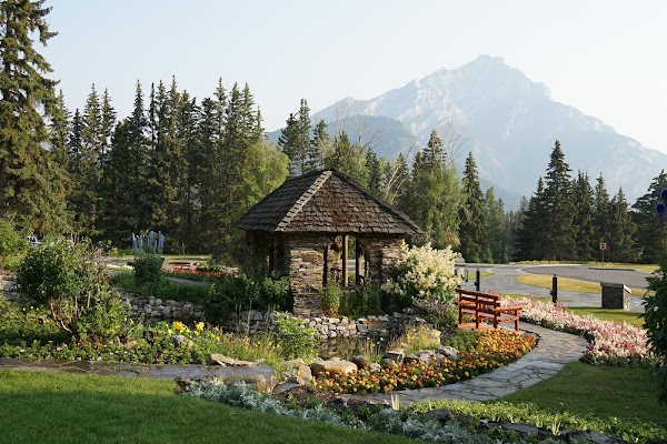 Popular tourist site Cascade of Time Garden in Banff