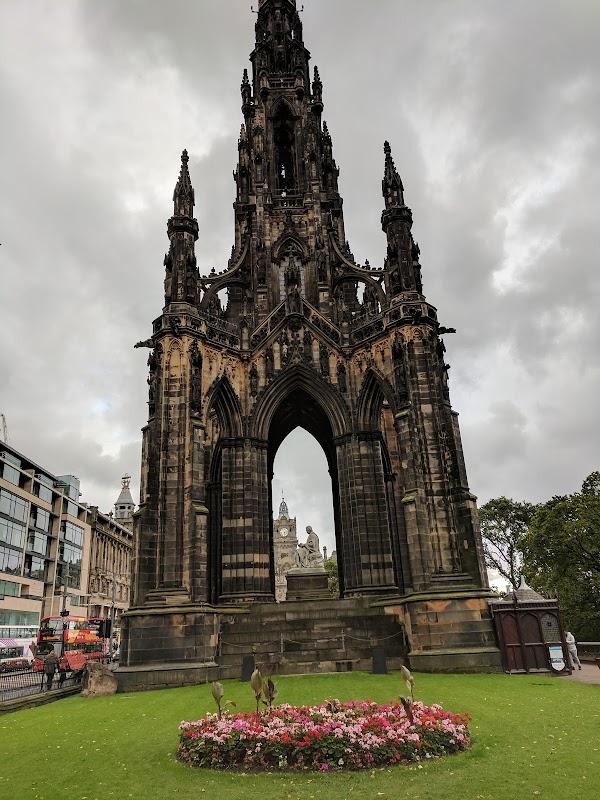 Popular tourist site Scott Monument in Edinburgh