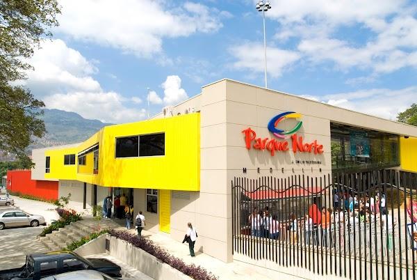 Popular tourist site North Park in Medellin