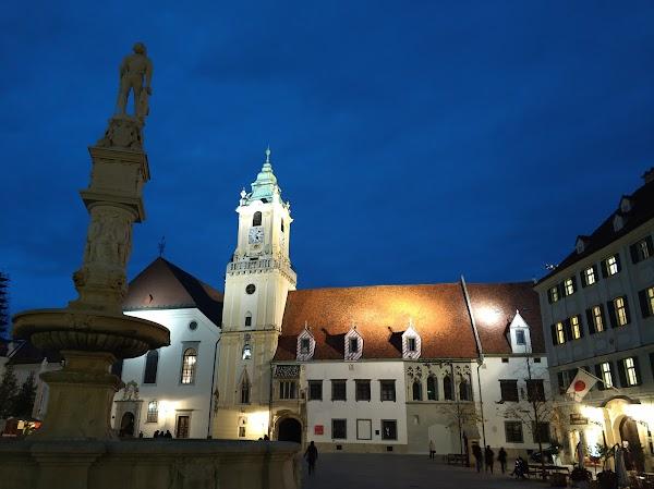 Popular tourist site Old Town Hall in Bratislava