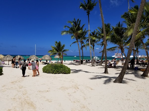 Popular tourist site Playa Los Corales in Punta Cana