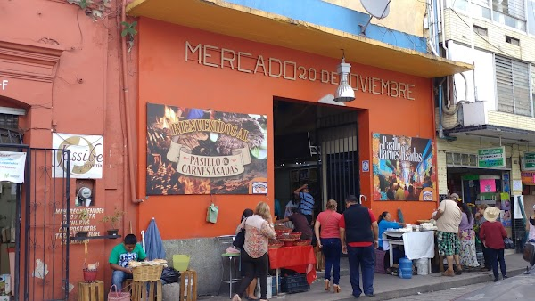 Popular tourist site Mercado 20 de Noviembre in Oaxaca