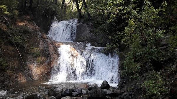 Popular tourist site Cascada de Los Duendes in Bariloche
