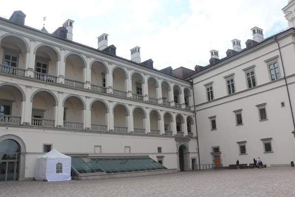 Popular tourist site Palace of the Grand Dukes of Lithuania in Vilnius