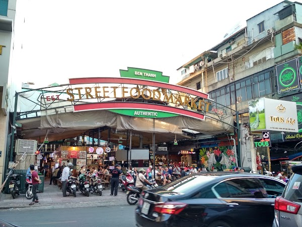 Popular tourist site Ben Thanh Market in Ho Chi Minh City
