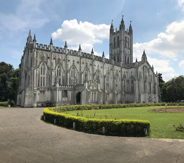 Popular tourist site St. Paul's Cathedral in Kolkata