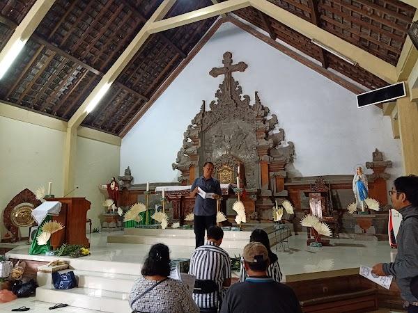 Popular tourist site Gereja Katolik Santo Paulus Kulibul in Canggu