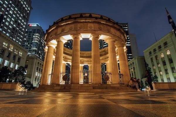 Popular tourist site Anzac Square & Memorial Galleries in Brisbane City