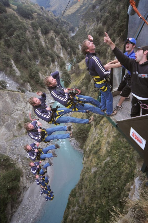 Popular tourist site Shotover Canyon Swing in Queenstown