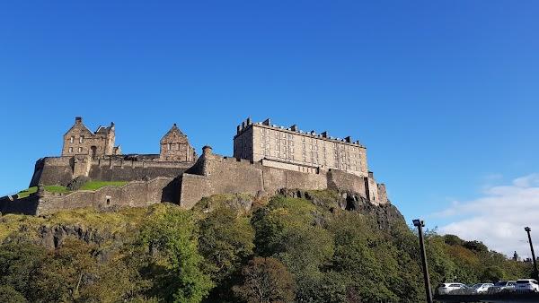 Popular tourist site Edinburgh Castle in Edinburgh